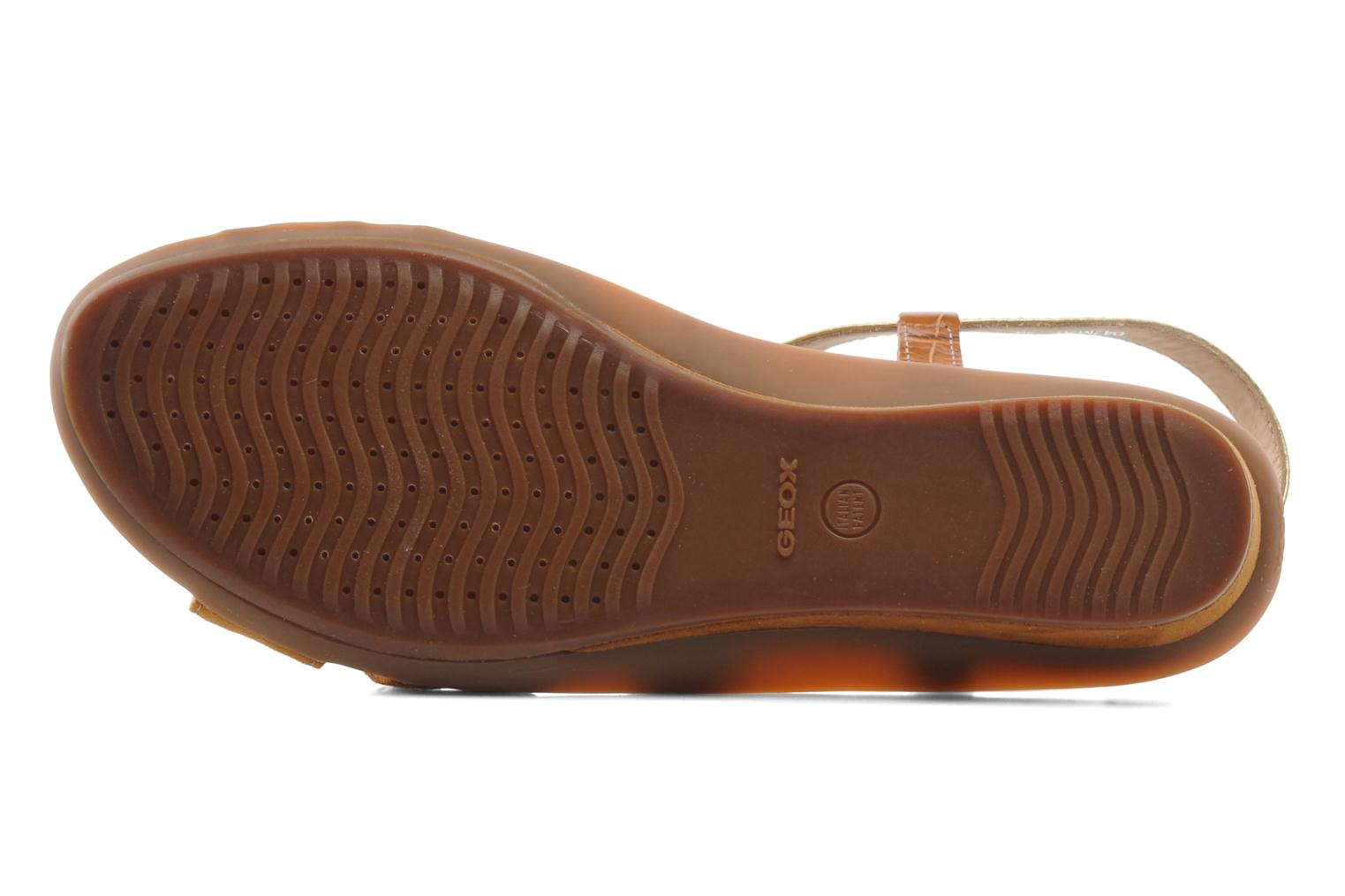 Sandals Geox D Emelyne D Brown view from above