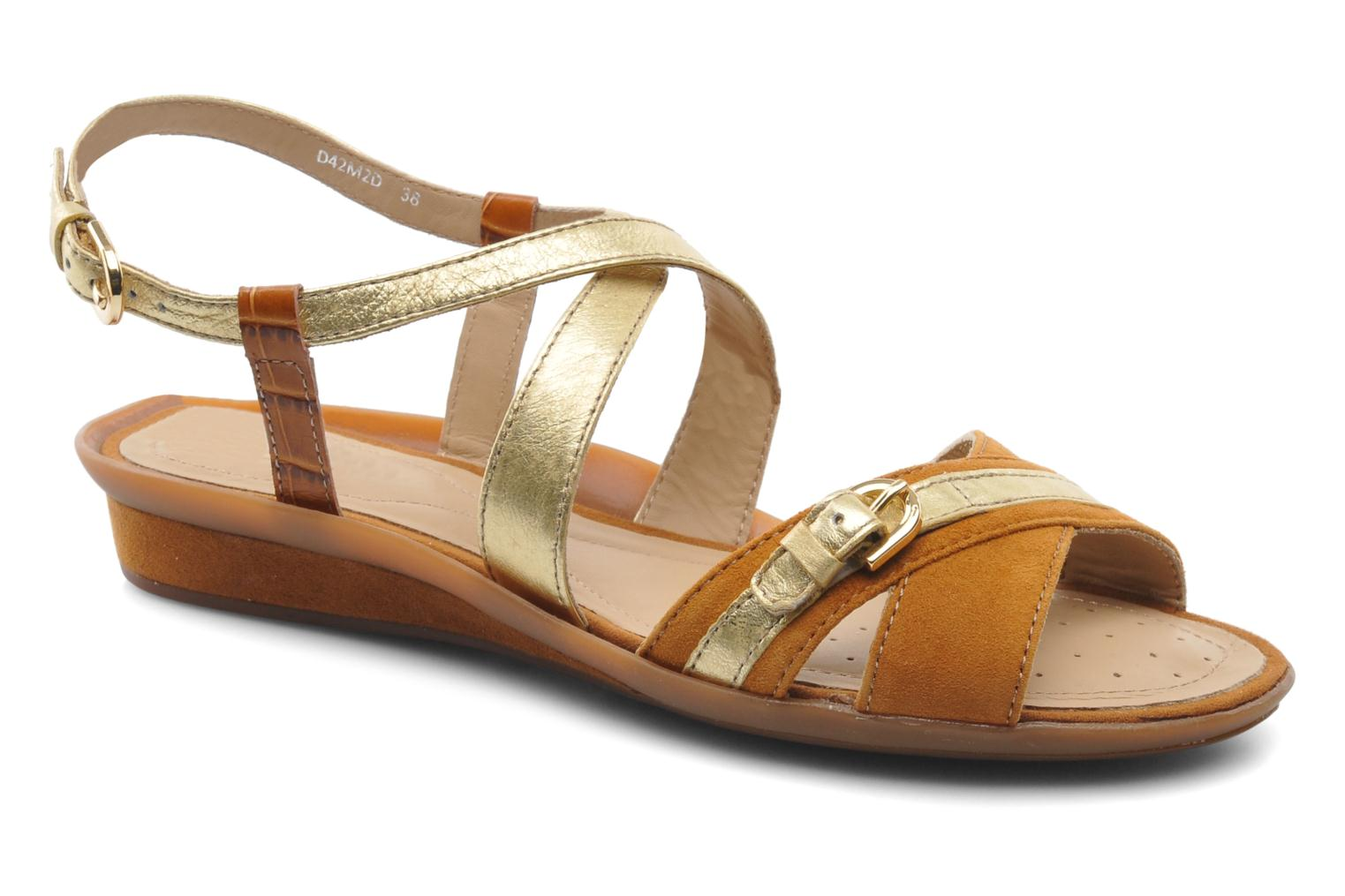 Sandals Geox D Emelyne D Brown detailed view/ Pair view
