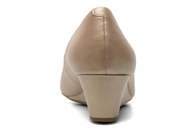 Zapatos de tacón Geox D Floralie B Beige vista lateral derecha