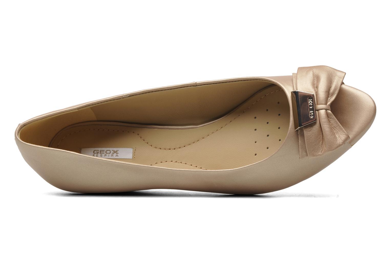 Zapatos de tacón Geox D Floralie B Beige vista lateral izquierda
