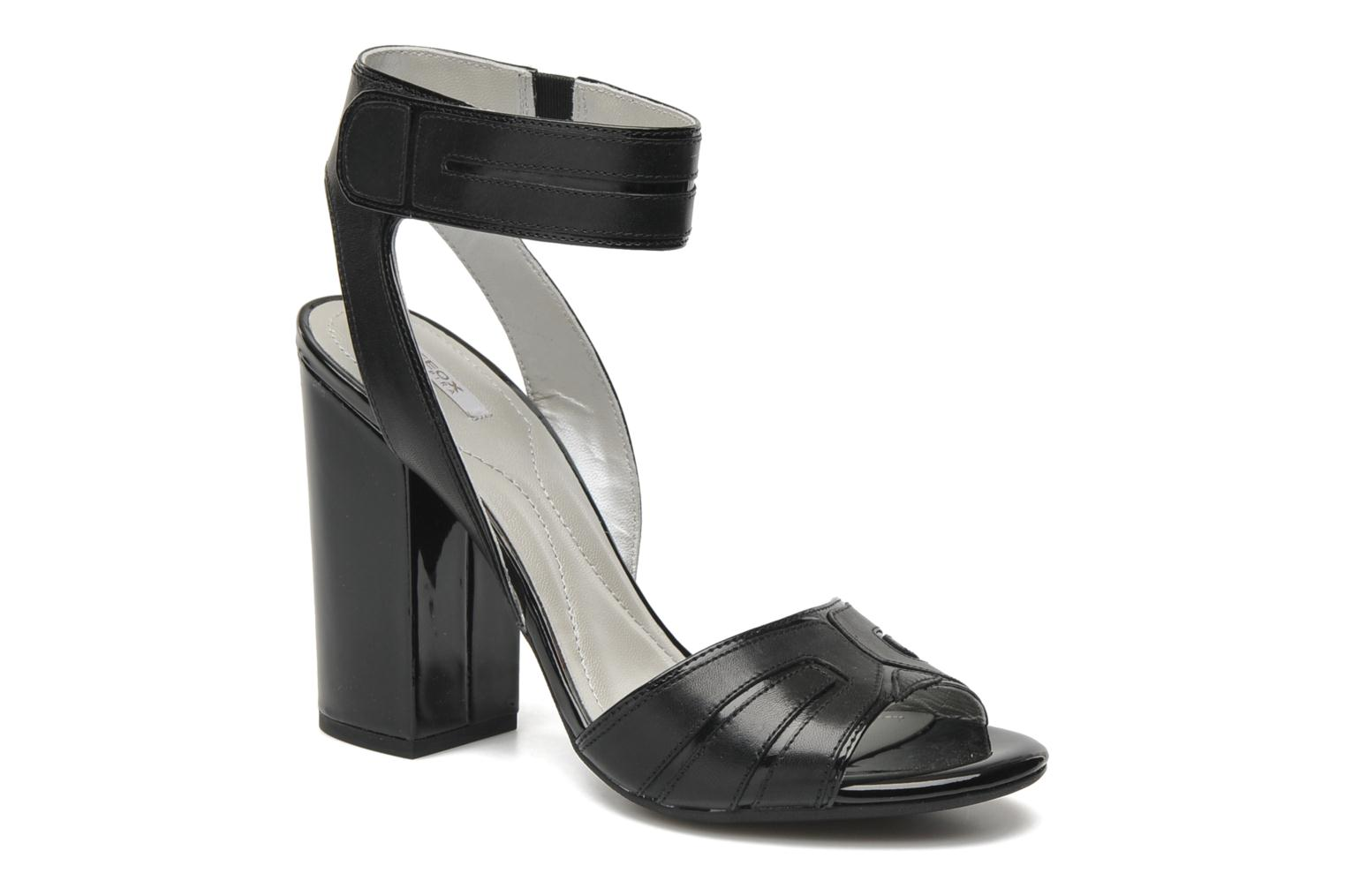 Sandals Geox D Nolina B Black detailed view/ Pair view
