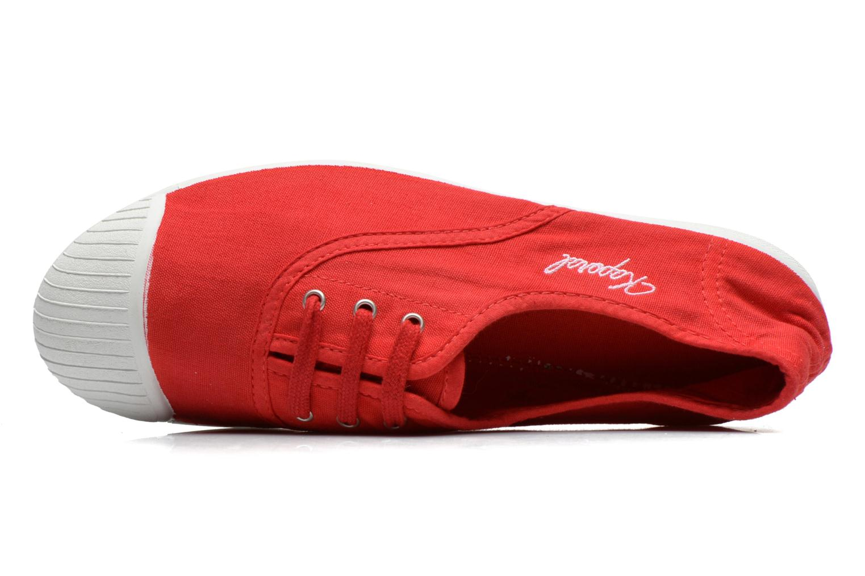 Sneaker Kaporal Vickana rot ansicht von links