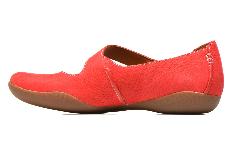 Ballerinas Clarks Felicia Plum rot ansicht von vorne