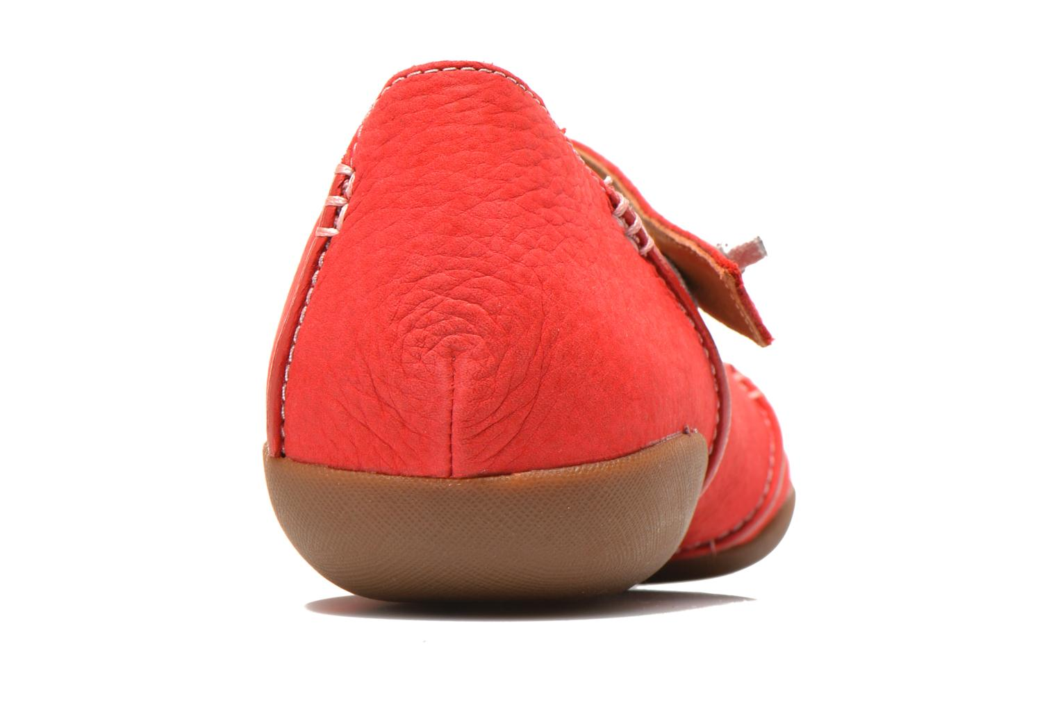 Ballet pumps Clarks Felicia Plum Red view from the right
