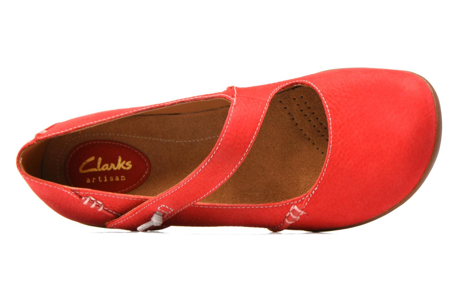 Ballet pumps Clarks Felicia Plum Red view from the left