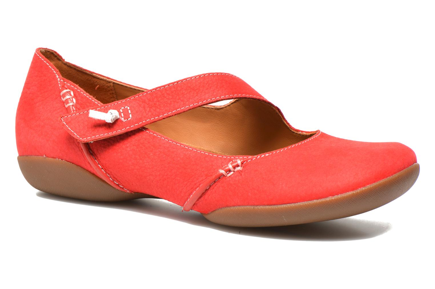 Ballet pumps Clarks Felicia Plum Red detailed view/ Pair view