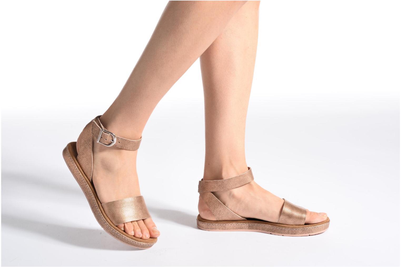 Sandales et nu-pieds Clarks Romantic Moon Rose vue bas / vue portée sac