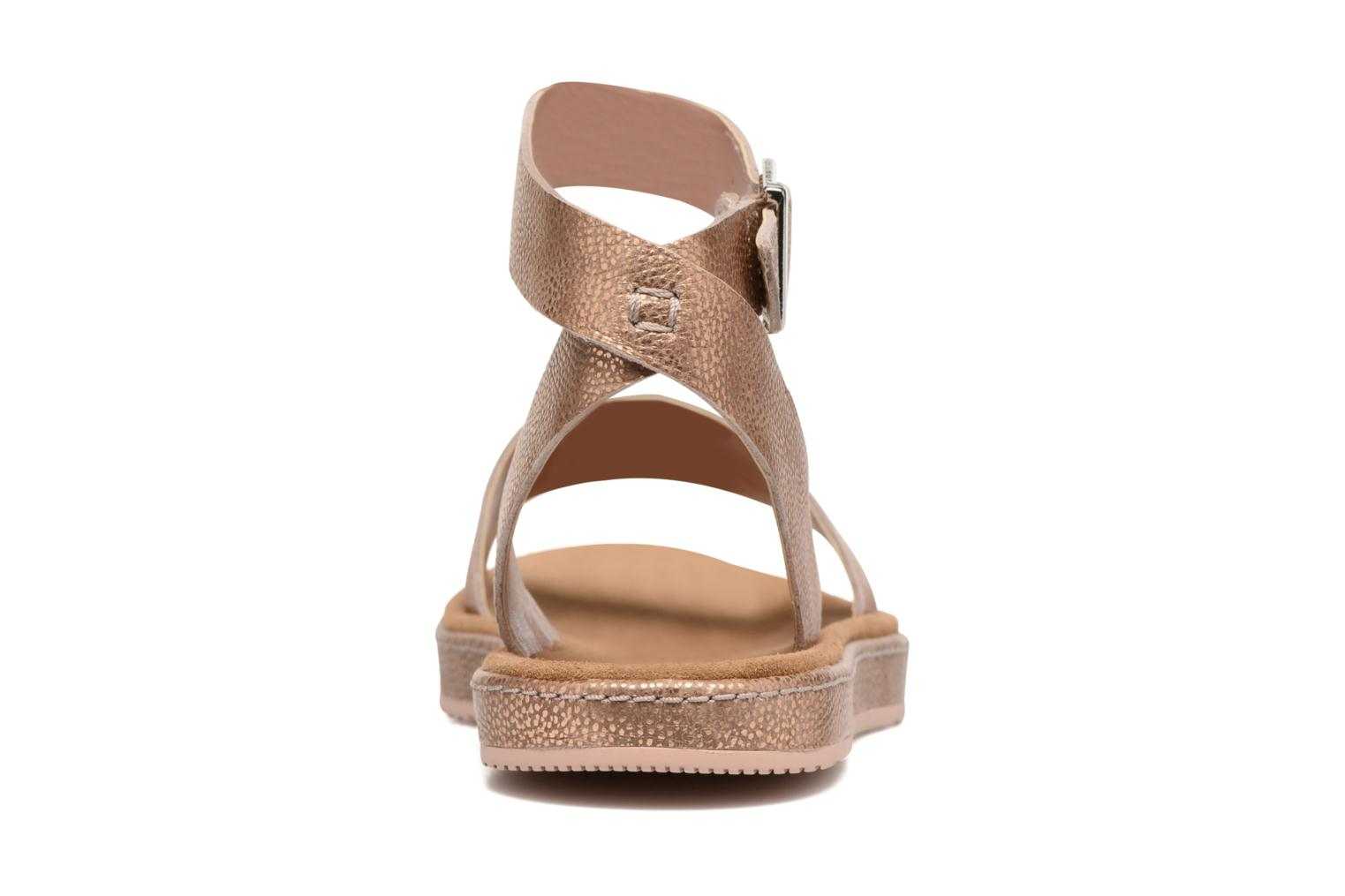 Sandals Clarks Romantic Moon Pink view from the right
