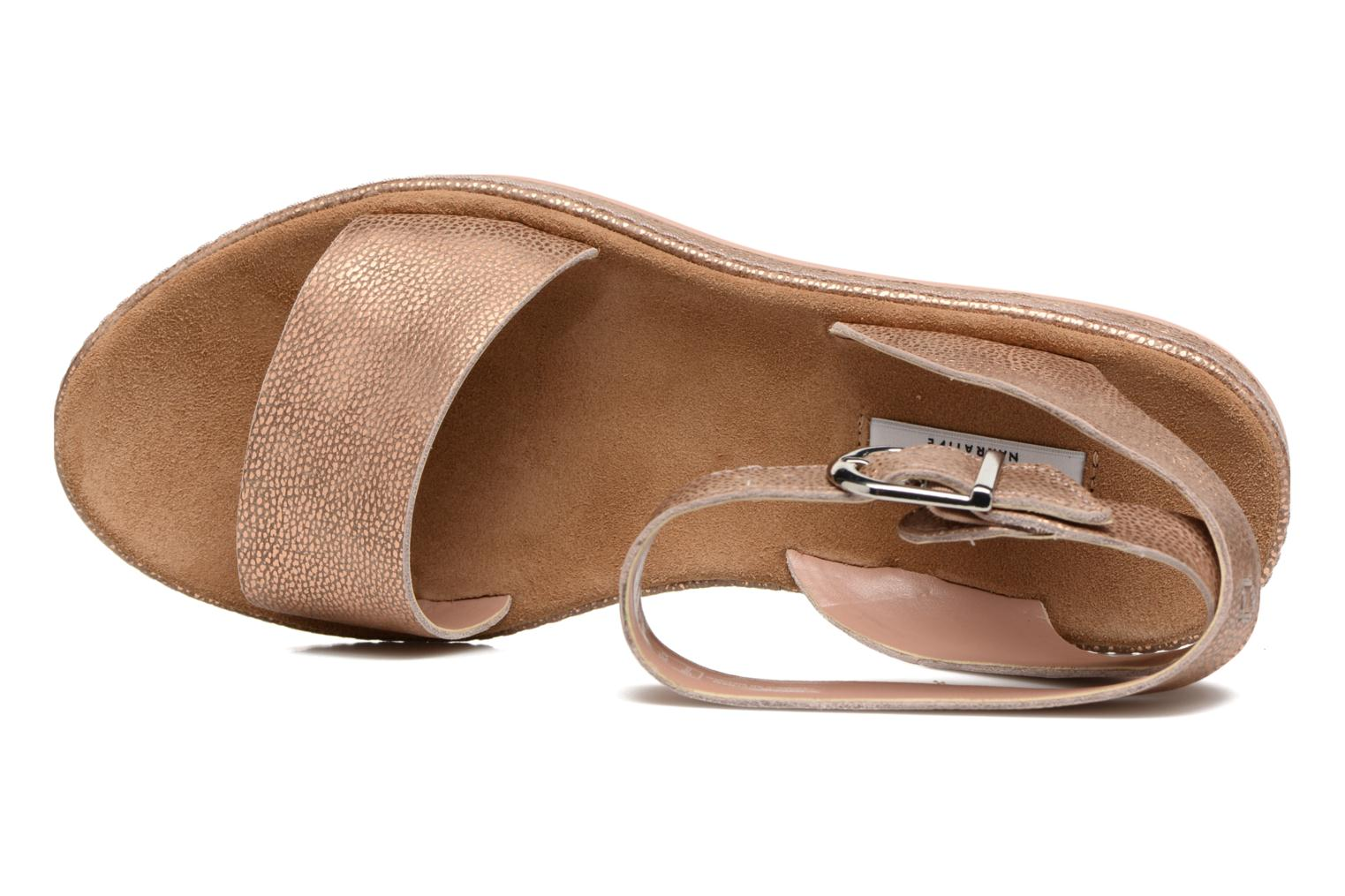 Sandals Clarks Romantic Moon Pink view from the left