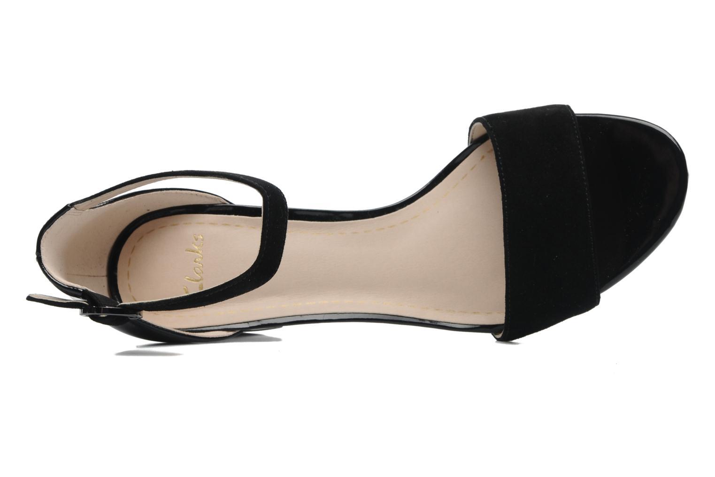 Sandales et nu-pieds Clarks Susie Deva Noir vue gauche