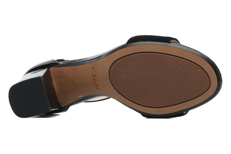 Sandales et nu-pieds Clarks Susie Deva Noir vue haut