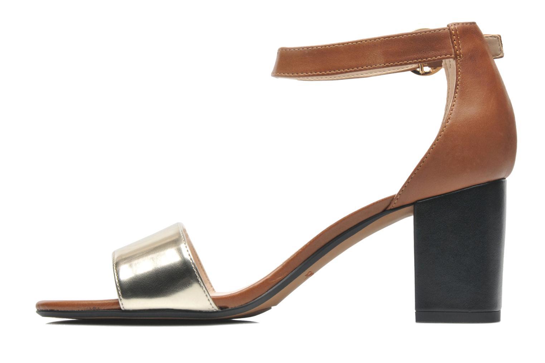 Sandales et nu-pieds Clarks Susie Deva Marron vue face