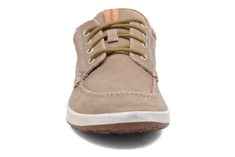 Baskets Clarks Norwin Vibe Vert vue portées chaussures