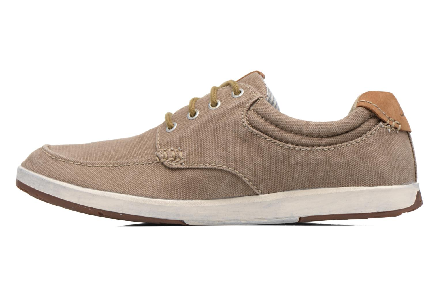 Trainers Clarks Norwin Vibe Green front view