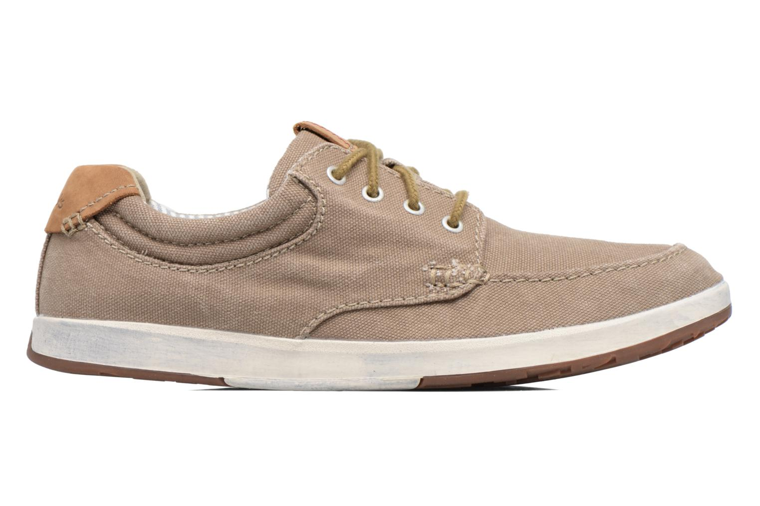Trainers Clarks Norwin Vibe Green back view
