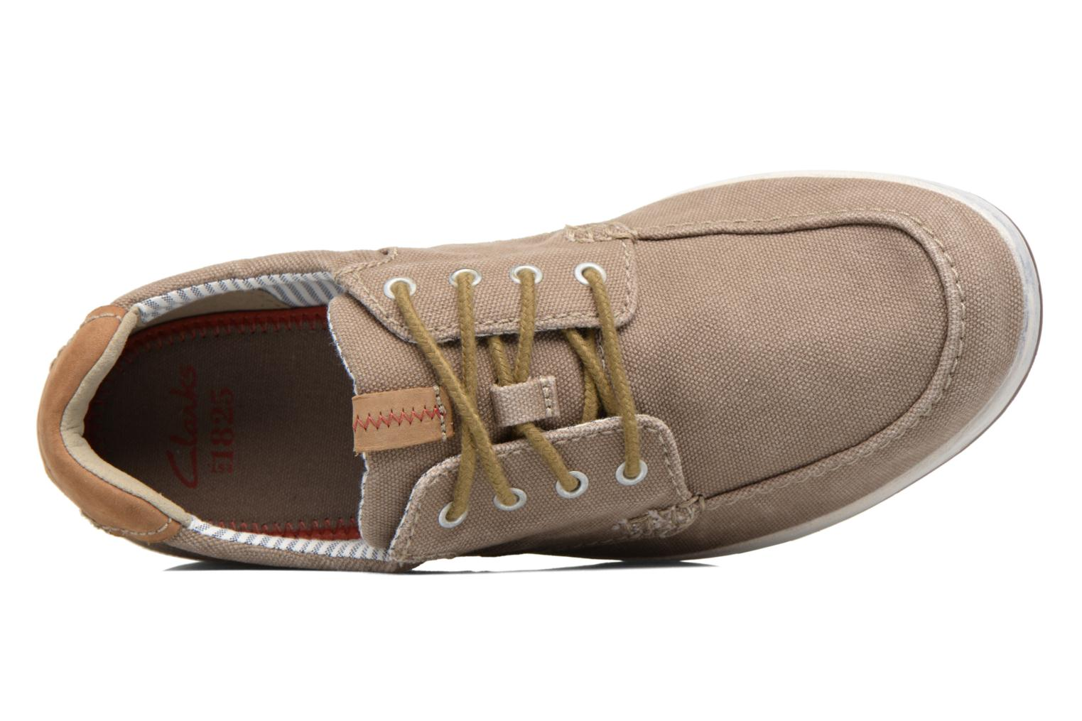 Trainers Clarks Norwin Vibe Green view from the left