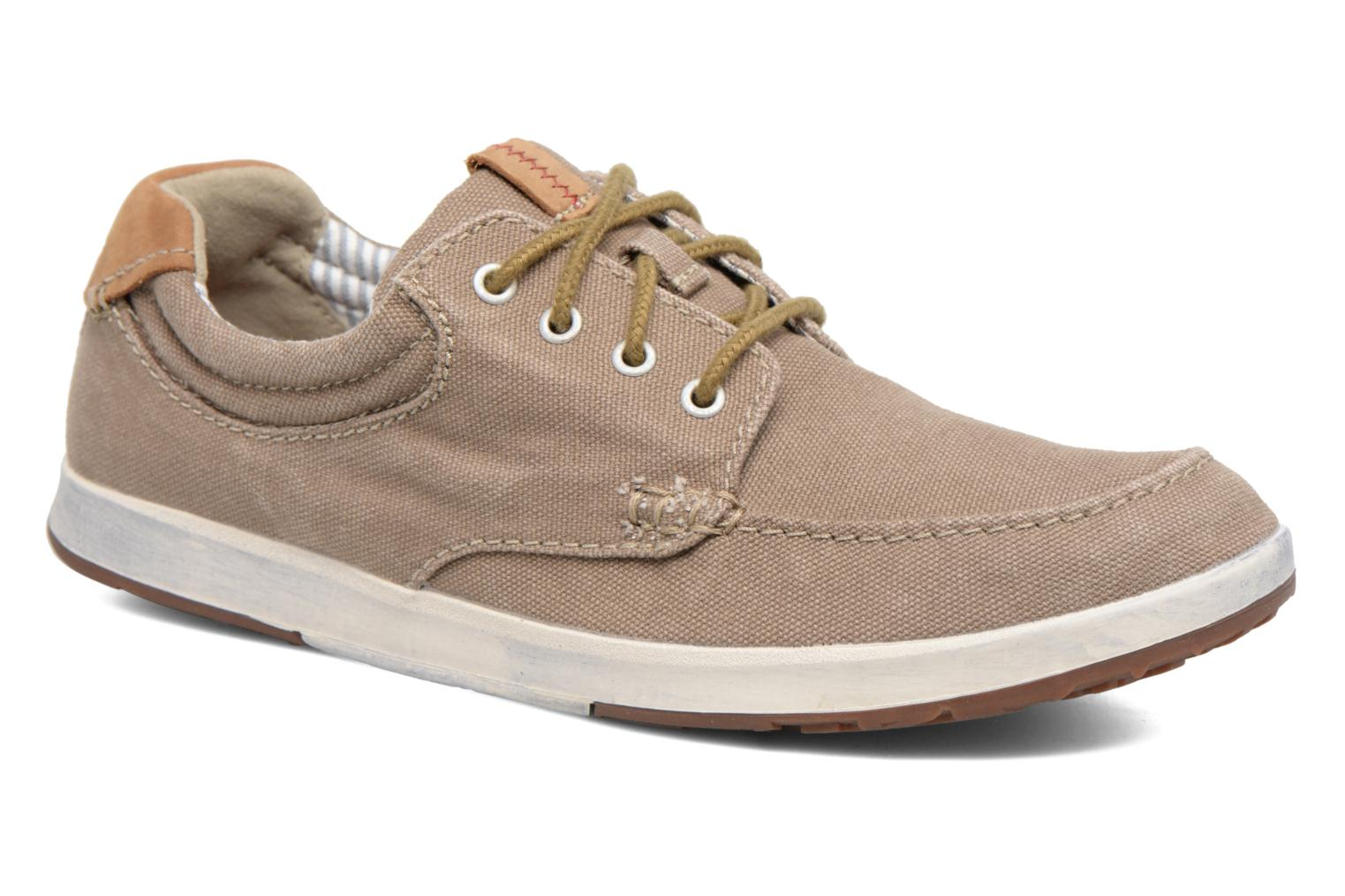 Trainers Clarks Norwin Vibe Green detailed view/ Pair view