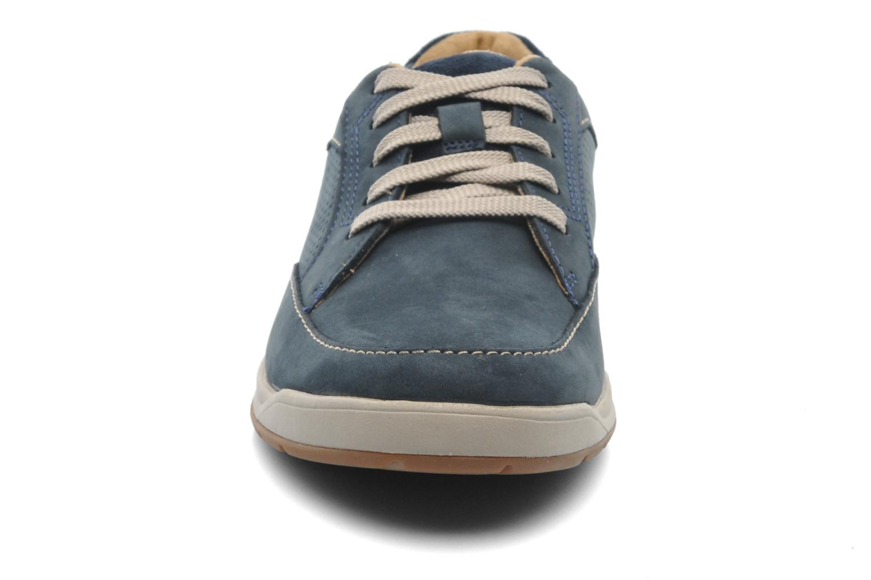Baskets Clarks Unstructured Stafford Park5 Bleu vue portées chaussures