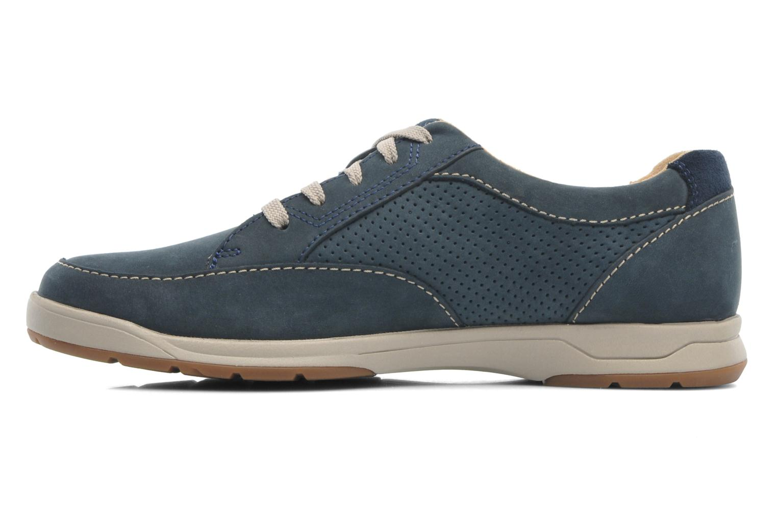 Baskets Clarks Unstructured Stafford Park5 Bleu vue face