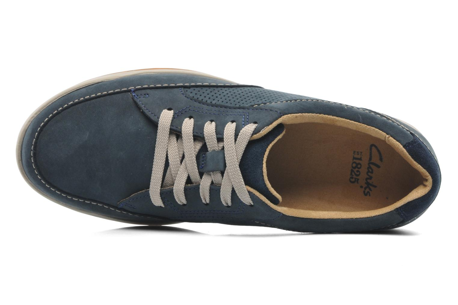 Baskets Clarks Unstructured Stafford Park5 Bleu vue gauche