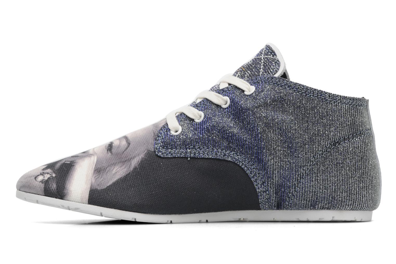 Sneaker Eleven paris Basic Moustache Glitter F grau ansicht von vorne