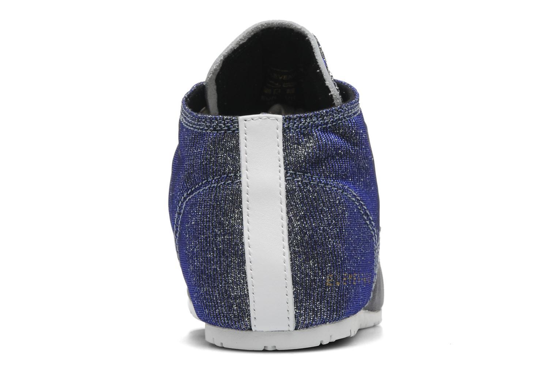 Sneaker Eleven paris Basic Moustache Glitter F grau ansicht von rechts