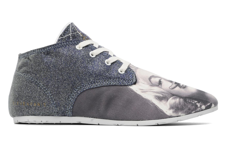 Sneaker Eleven paris Basic Moustache Glitter F grau ansicht von hinten