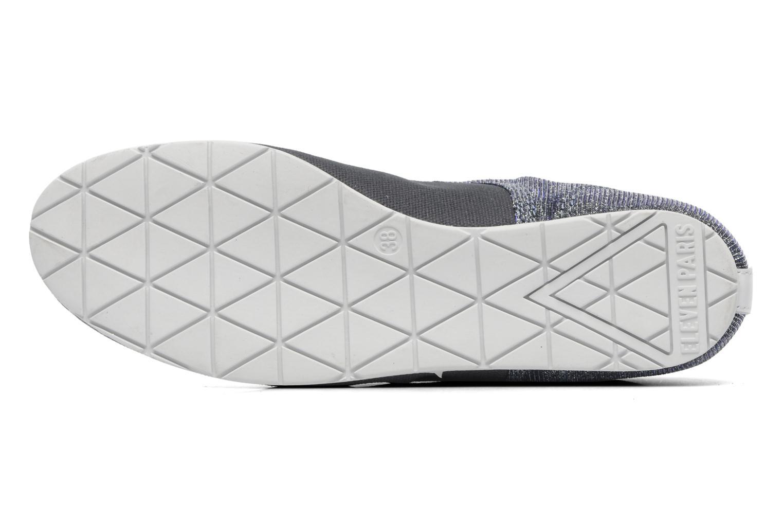 Sneaker Eleven paris Basic Moustache Glitter F grau ansicht von oben