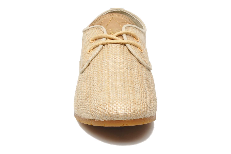 Baskets Eleven paris Basic Raffia F Beige vue portées chaussures