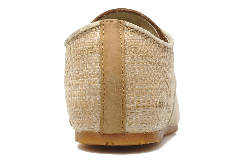 Baskets Eleven paris Basic Raffia F Beige vue droite