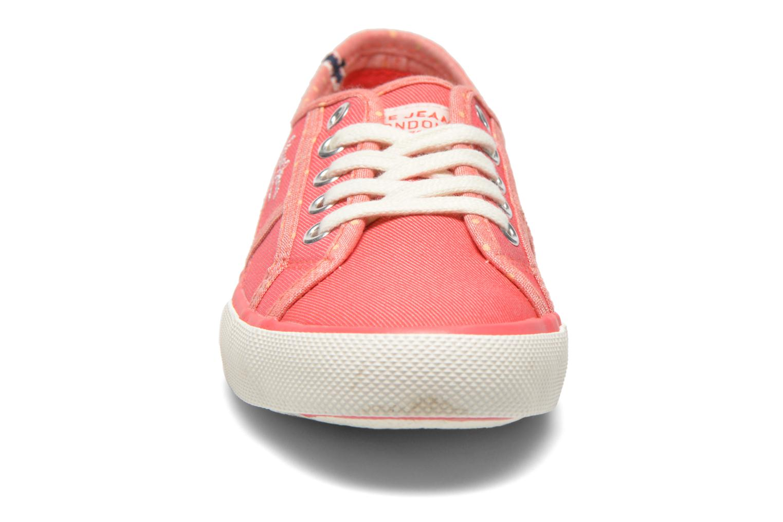 Baskets Pepe jeans BAKER Rose vue portées chaussures
