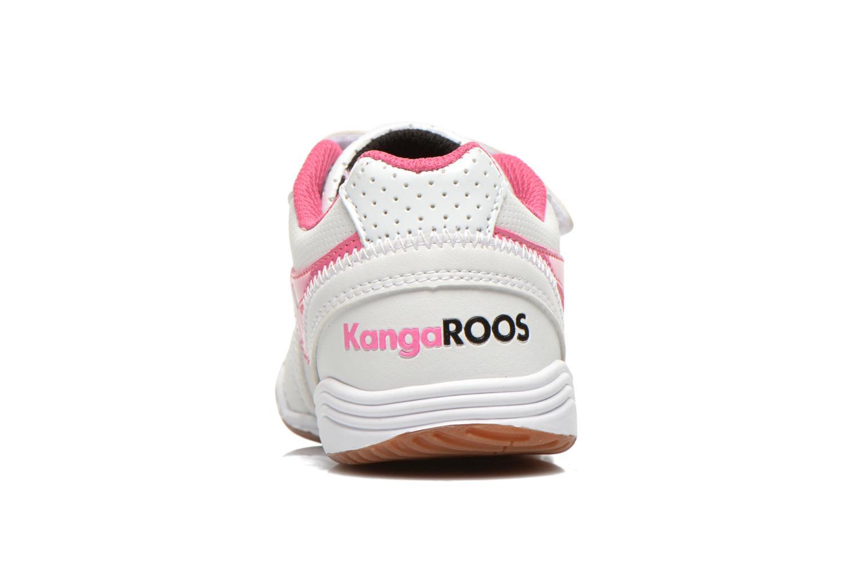Baskets Kangaroos Power Court Blanc vue droite