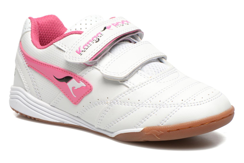 Baskets Kangaroos Power Court Blanc vue détail/paire