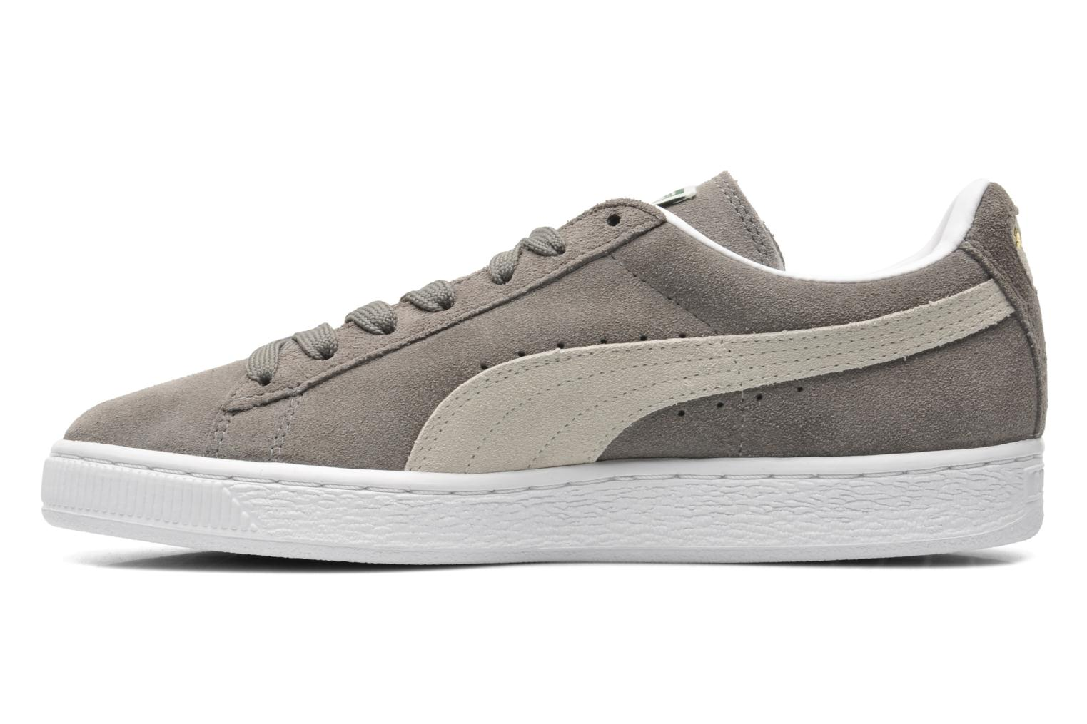 Suede Classic+ steeple gray-white