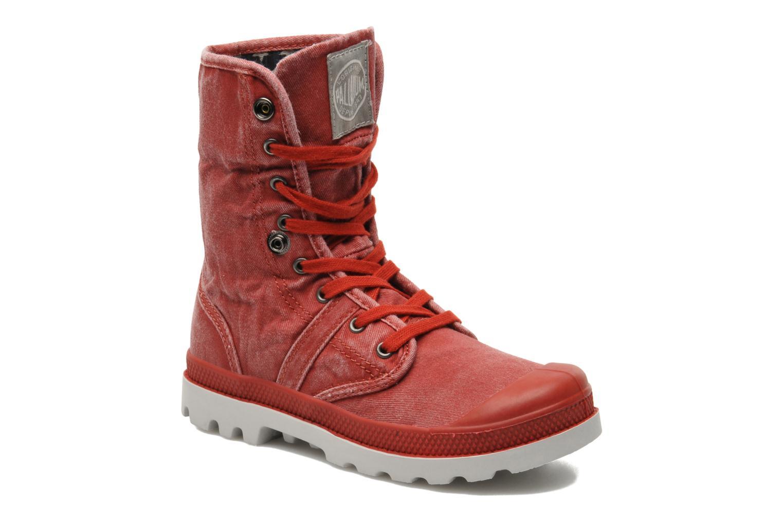Bottines et boots Palladium Baggy Kid Flag Rouge vue 3/4