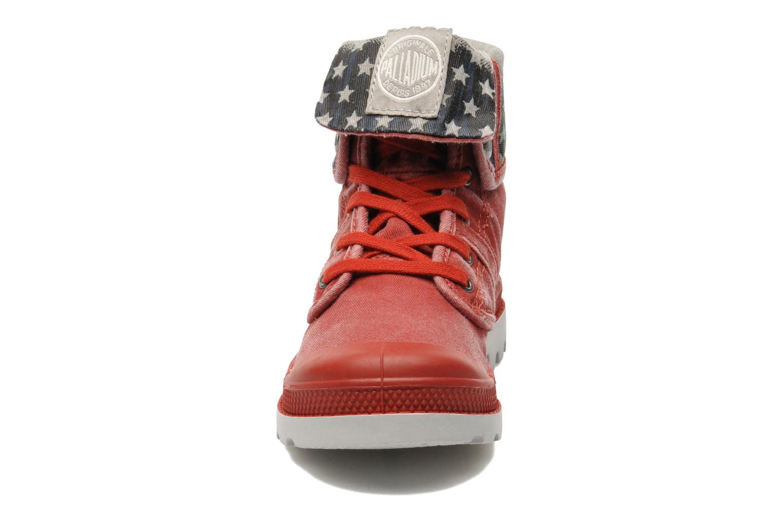 Bottines et boots Palladium Baggy Kid Flag Rouge vue portées chaussures