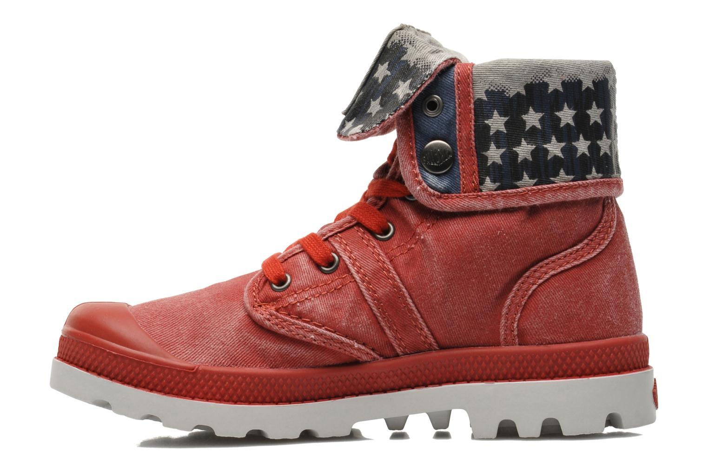 Bottines et boots Palladium Baggy Kid Flag Rouge vue face