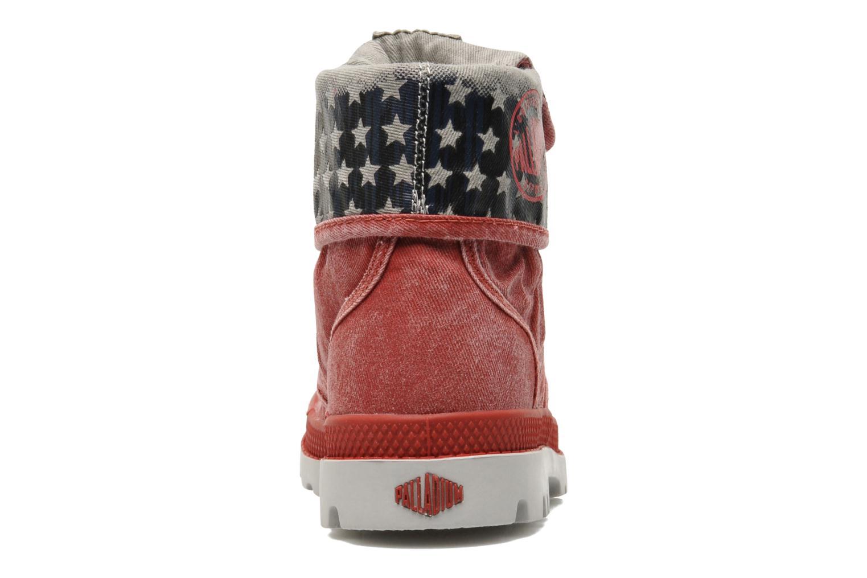 Bottines et boots Palladium Baggy Kid Flag Rouge vue droite
