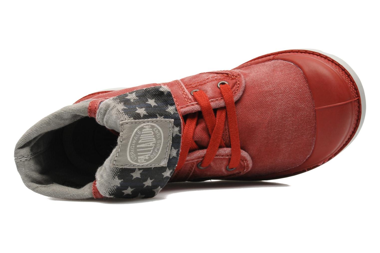 Bottines et boots Palladium Baggy Kid Flag Rouge vue gauche
