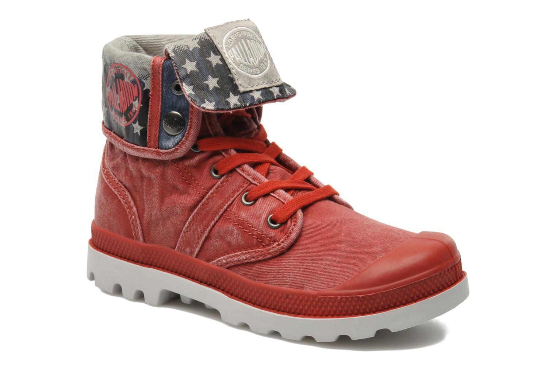 Bottines et boots Palladium Baggy Kid Flag Rouge vue détail/paire