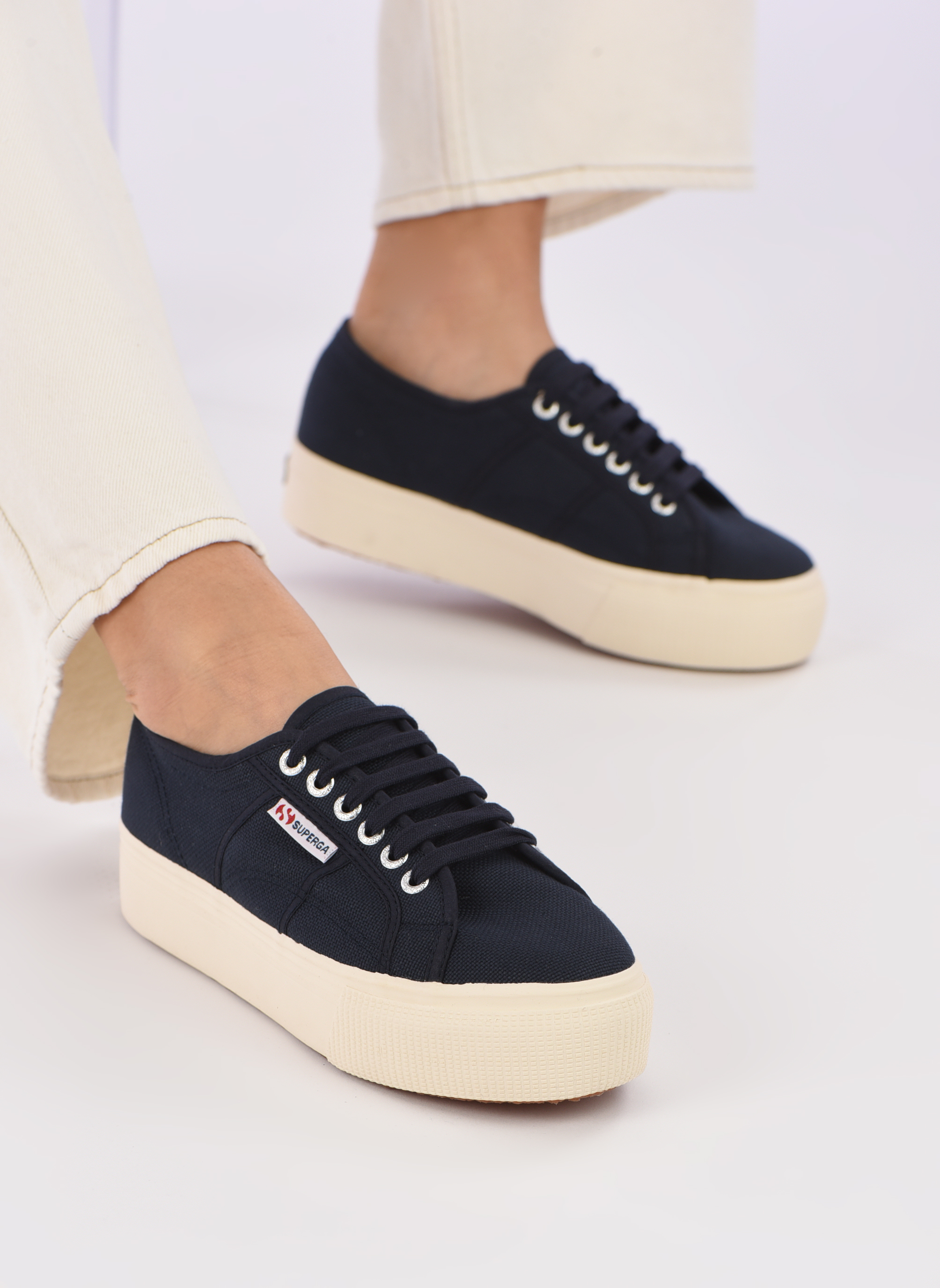 Sneakers Superga 2790 Cot Plato Linea W Blå se forneden