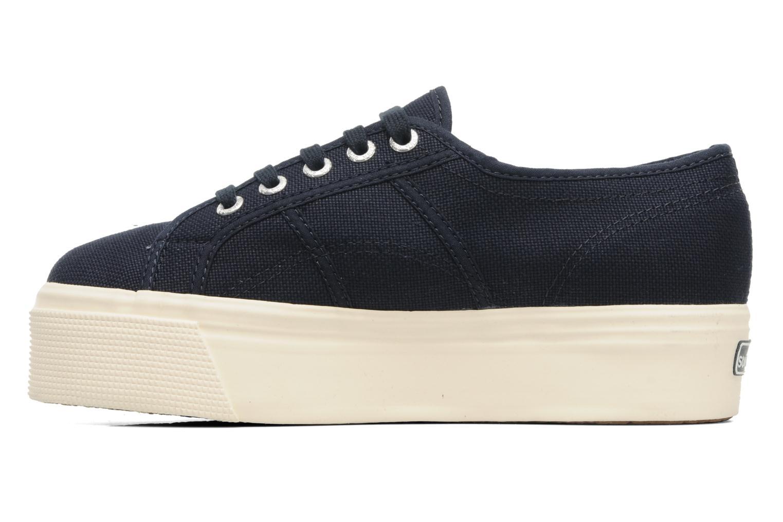 Sneakers Superga 2790 Cot Plato Linea W Blå se forfra
