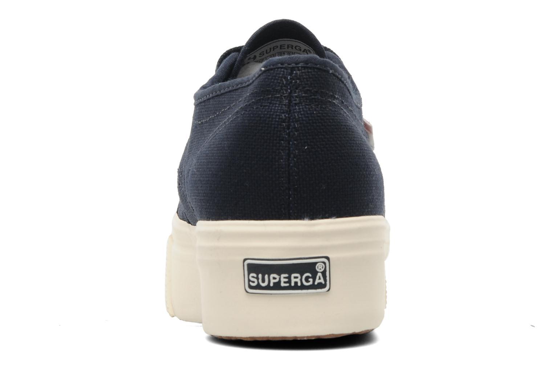Sneakers Superga 2790 Cot Plato Linea W Blå Se fra højre