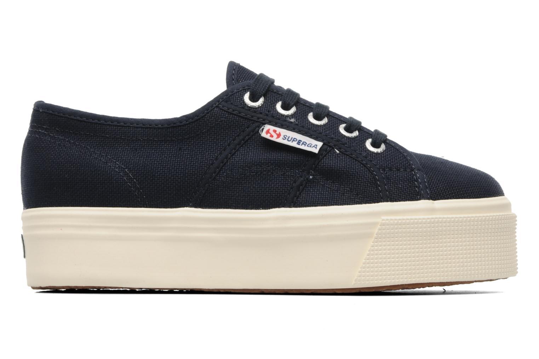 Sneakers Superga 2790 Cot Plato Linea W Blå se bagfra