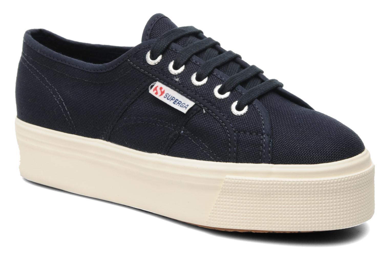 Sneakers Superga 2790 Cot Plato Linea W Blå detaljeret billede af skoene