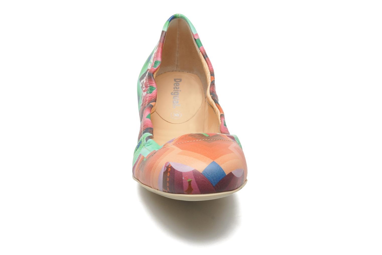 Ballerines Desigual loumia Multicolore vue portées chaussures