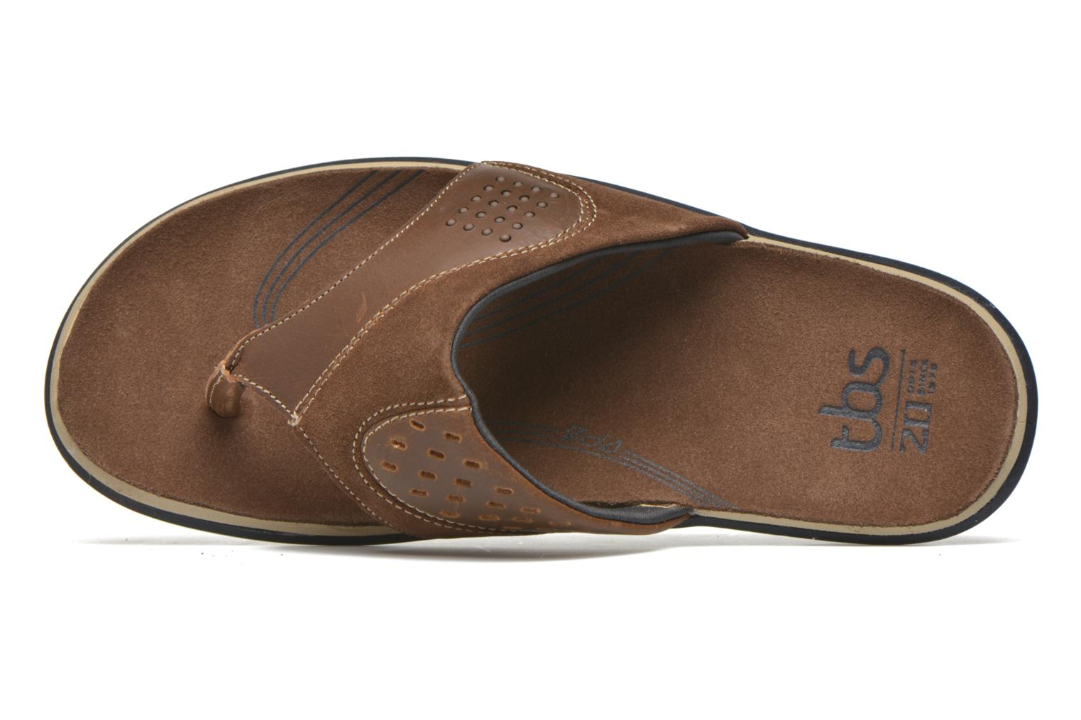 Flip flops TBS Hammon Brown view from the left