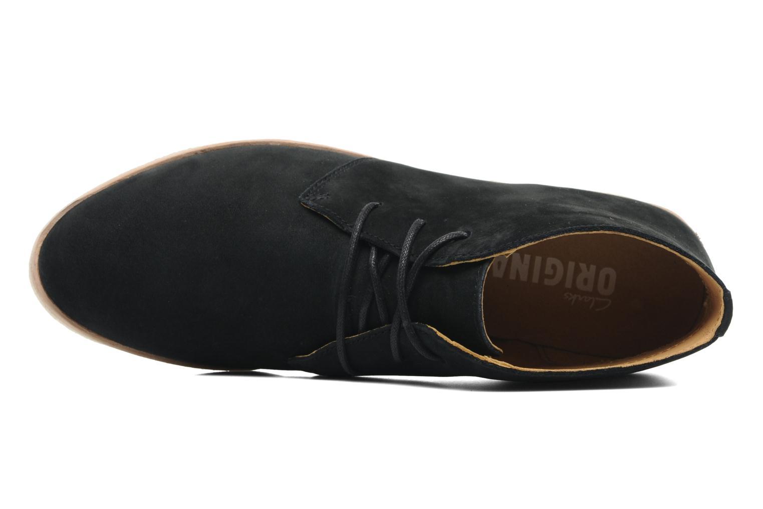 Chaussures à lacets Clarks Originals Phenia Desert Noir vue gauche
