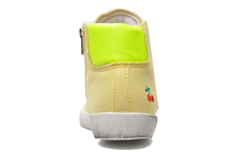 Sneaker Le temps des cerises Galaxie gelb ansicht von rechts