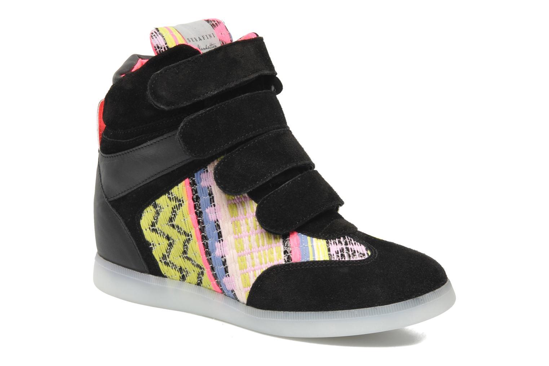 Baskets Serafini Manhattan Chic Sneaks Noir vue 3/4